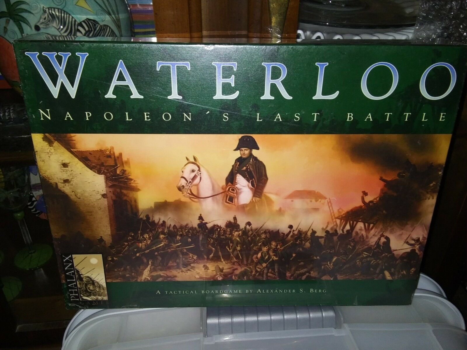 WATERLOO NAPOLEON'S LAST BATTLE PHALANX GAMES TACTICAL BOARD GAME NEW SEALED BOX