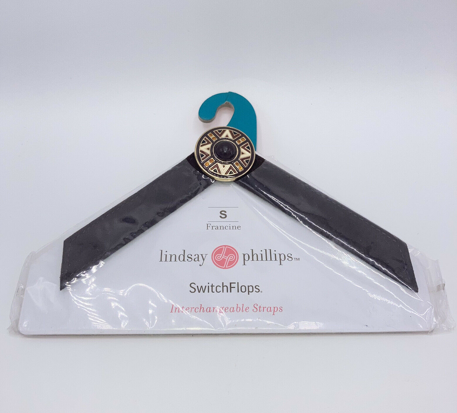 Lindsay Phillips SwitchFlops Interchangeable Brown Straps Size Small Francine