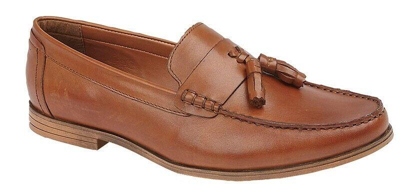 Mens Lambretta Leather Tassel Loafers Smart Casual Retro Work Shoes Slip On Size
