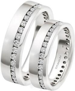 Son-et-Sien-7-mm-Classique-Titane-mariage-fiancailles-Band-Ring-Set