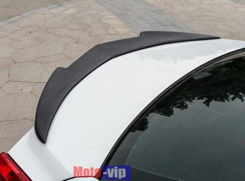 Fits 13-18 Cadillac ATS Sedan V Style Trunk Spoiler Carbon Fiber Color ABS