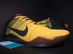 22e5cf2a266 NIKE KOBE XI 11 ELITE LOW BRUCE LEE GOLD YELLOW BLACK RED FTB AD ...