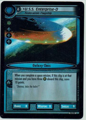 ENTERPRISE-D FOIL CARD 9R18 U.S.S STAR TREK CCG 2E DANGEROUS MISSIONS