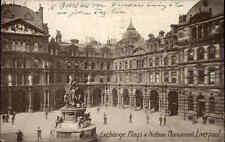 Liverpool England vintage postcard 1924 gelaufen Exchange Flags Nelson Monument