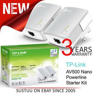 Fougueux Tp-link Tl-pa4010 Nano Adaptateur Cpl Kit Démarrage Av500 │ Usage Maison