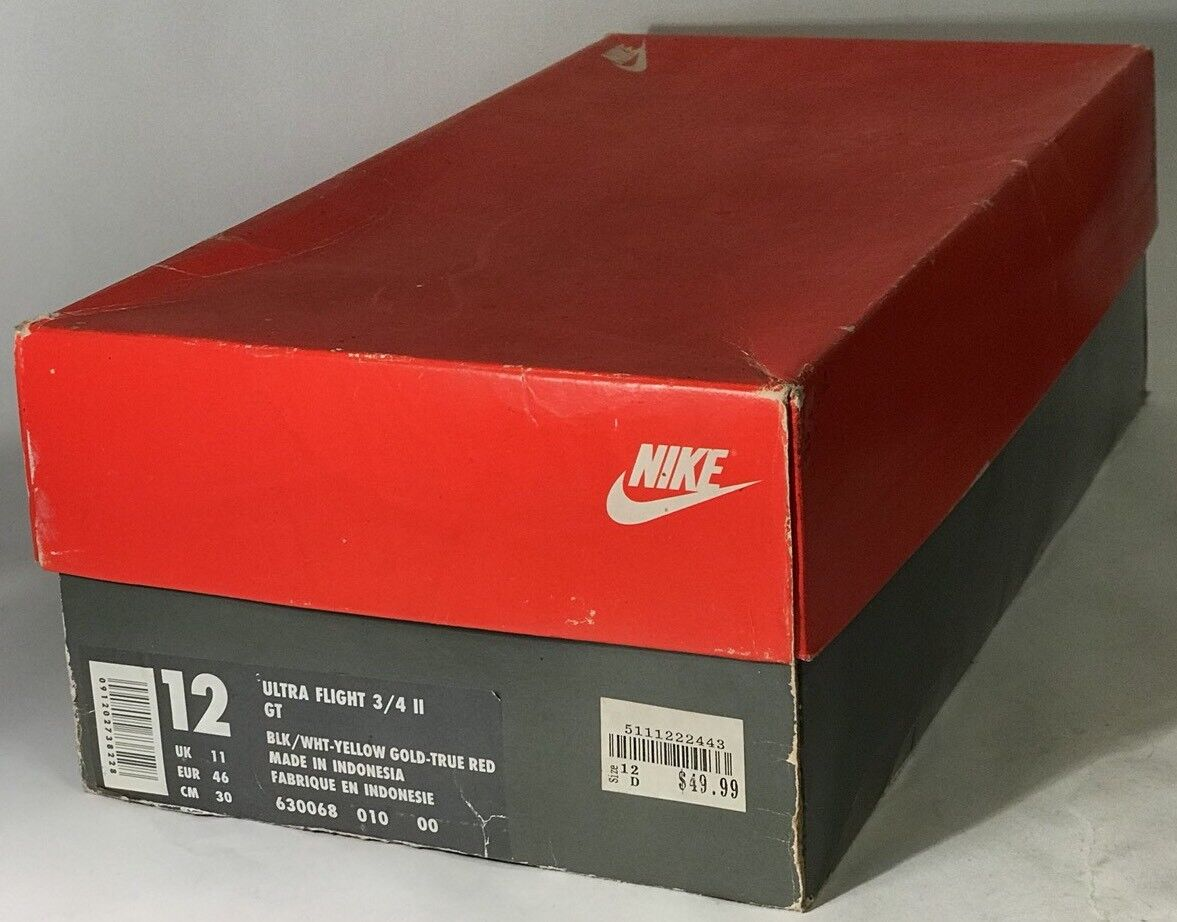 Vintage Nike Ultra Flight 3/4 II GT Empty Box Rare White Men Can't Jump BLK/WHT Cheap and beautiful fashion