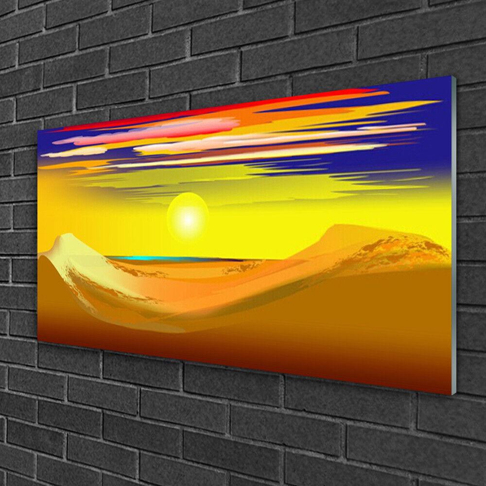 Tableau sur verre Image Impression 100x50 Art Désert
