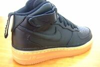 ORIGINAL BOYS MENS BLACK NIKE AIR FORCE 1 MID LV8 SPORTS CASUAL TRAINERS BOOTS