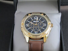 Unlisted Kenneth Cole Men's Analog Brown Leather Band Watch UL 0602
