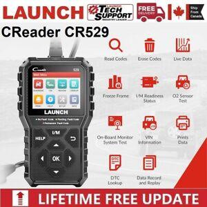 LAUNCH CR529 OBD2 Code Reader EOBD CAN Car Check Engine Fault Diagnostic Scanner