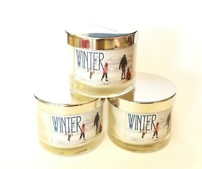 3 Pack Of Bath And Body Works Winter Scented Candles Ebay