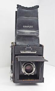 Graflex-Super-D-RB-4X5-Complete-Outfit-190mm-F5-6-Ektar-Holders-Graflok-TESTED