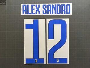 Alex Sandro 12 Juventus Away Nameset Serie A Transfert Calcio Dekographics 17-18