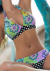 Women Fashion Halter Sexy Floral Printed Top Bottom Swimwear Bikini Set