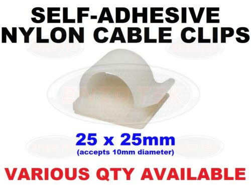 Wire Conduit Hook Fasteners 25mm Self Adhesive Nylon Cable Clips