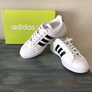 Details about Adidas Neo SZ 9.5 Tennis Shoe Cloudfoam White Black Stripes  Womans CF Advantage