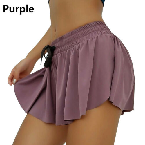 Women Elastic Waist Shorts Summer Casual Loose Skorts Running Gym Yoga Hot Pants