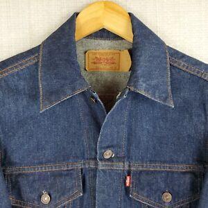 VTG LEVIS Deadstock Size 38 Small Made in Canada Men's Denim Trucker Jacket