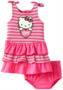 Hello Kitty Baby Girls Dress With Diaper Set