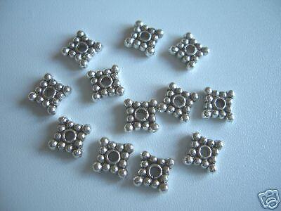 """Metal perlas /""""spacer/"""" 5x5mm plata de colores perlas top nuevo 22"""