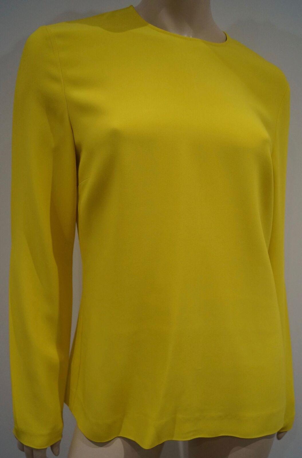 STELLA MCCARTNEY Gelb Crew Neck Long Sleeve Casual Sweater Top IT46; UK14
