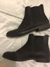 f2e5729e63b ECCO LADIES CHELSEA BOOTS BLACK LEATHER BROGUE DETAIL SIZE 39 UK 6 in VGC