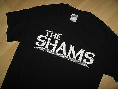 The Shams Tee - Rock & Roll Music Band Concert Tour Black White T Shirt Small