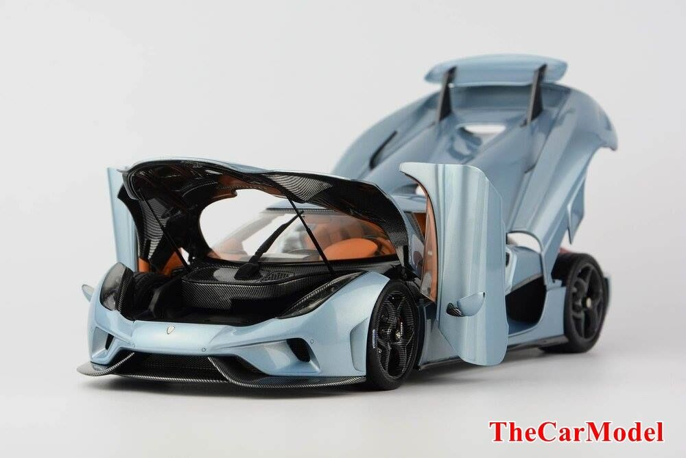 Koenigsegg Regera in Horizon blu Ltd 299 pcs Full Opened Version FrontiArt 1 18