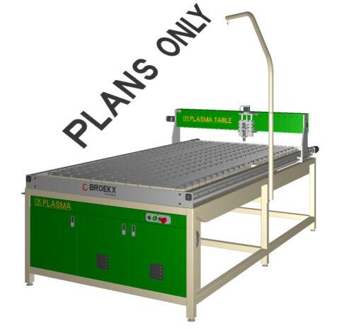 CNC Plasma Cutting Table  8'x4' (2450x1250) DIY Plans