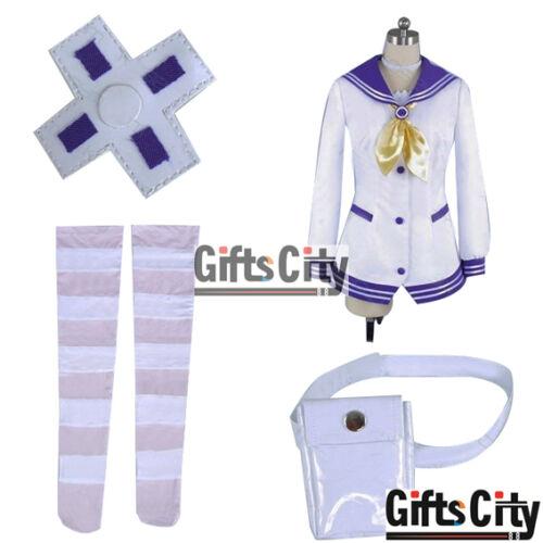 Hyperdimension Neptunia Neptune Purple Heart Uniform Cos Clothes Cosplay Costume