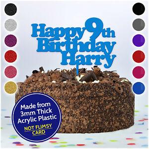 Dettagli Su Personalizzato Qualsiasi Nome Di Eta Buon Compleanno Cake Topper Decorazioni Per Bambini Ragazzi Ragazze Mostra Il Titolo Originale