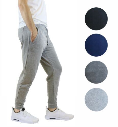 4 Pack Mens Jogger Pants Sweatpants Lounge French Terry Lounge Gym Running NWT