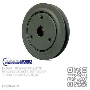 POWERBOND-HARMONIC-BALANCER-WIDE-BELT-132-6-CYL-GREY-MOTOR-HOLDEN-FX-FJ-SERIES