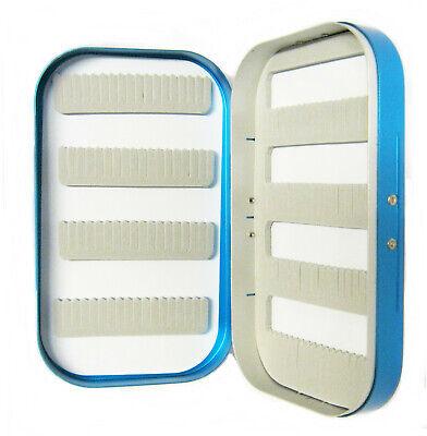 Aluminium Blau Satin C+f Style Schlitz Schaumstoff Fliegen Box Nymphen Nass Das Ganze System StäRken Und StäRken