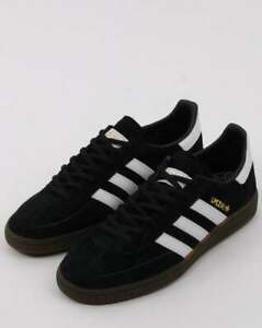 sitio quemado clima  adidas Handball Spezial Trainers in Black & White - retro suede 3 stripes,  gum | eBay