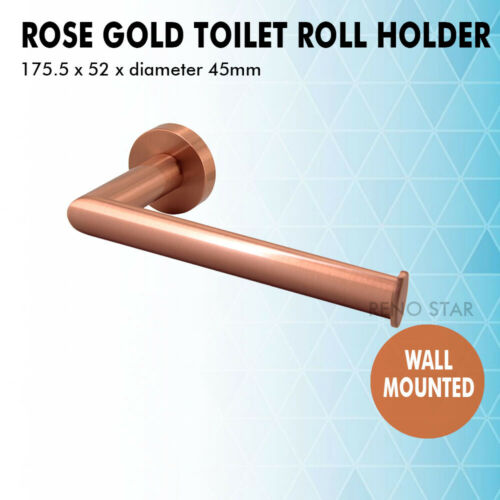 Brushed Rose Gold Bathroom Accessory Wall Mounted Solid Brass Quality