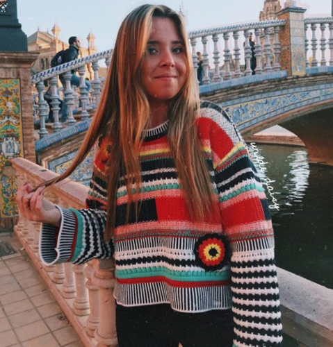 Amazing ZARA Multicolore Loose Fit Knit Crochet maglione taglia S S S f6692f
