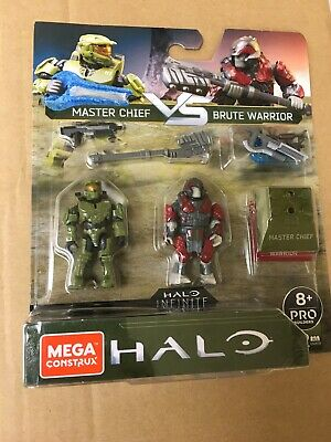 Halo Infinite Mega Construx Master Chief vs Brute Warrior Conflict Pack NEW!