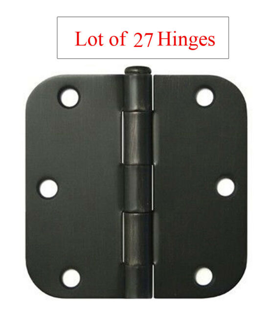 "36 Oil Rubbed Bronze 3.5/"" w 1//4/"" Radius Door Hinges Interior Brushed 3 Inch"