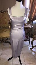 "NWT Dolce & Gabbana ""D&G"" Lavender Lilac Satin Stretch Dress IT42 US6"