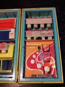 Vintage-Gilbert-Chemcraft-Portable-Action-Lab-Steel-Set-Science-Metal-Box