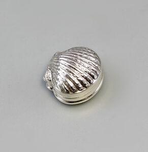 9907126  925er Silber Pillendöschen Muschel  3,5x3x1,5cm