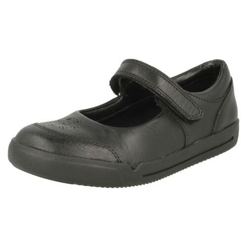 Cuero Niña Negro De Zapatos Mini Clarks Cielo Colegio Elegante Tqawn7H