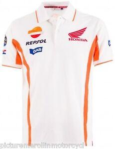 Repsol Honda Hrc Motogp Team Estrella Galicia Polo Shirt White Size M L Xl 2xl Ebay
