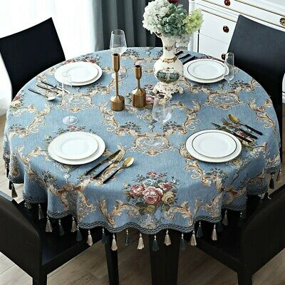 Fancy Round Dining Table Cover European Vintage Floral Tassel Tablecloth 55 63 Ebay