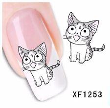 Carte de Tatouage temporaire pour ongles (nail art faux ongles) XF1253