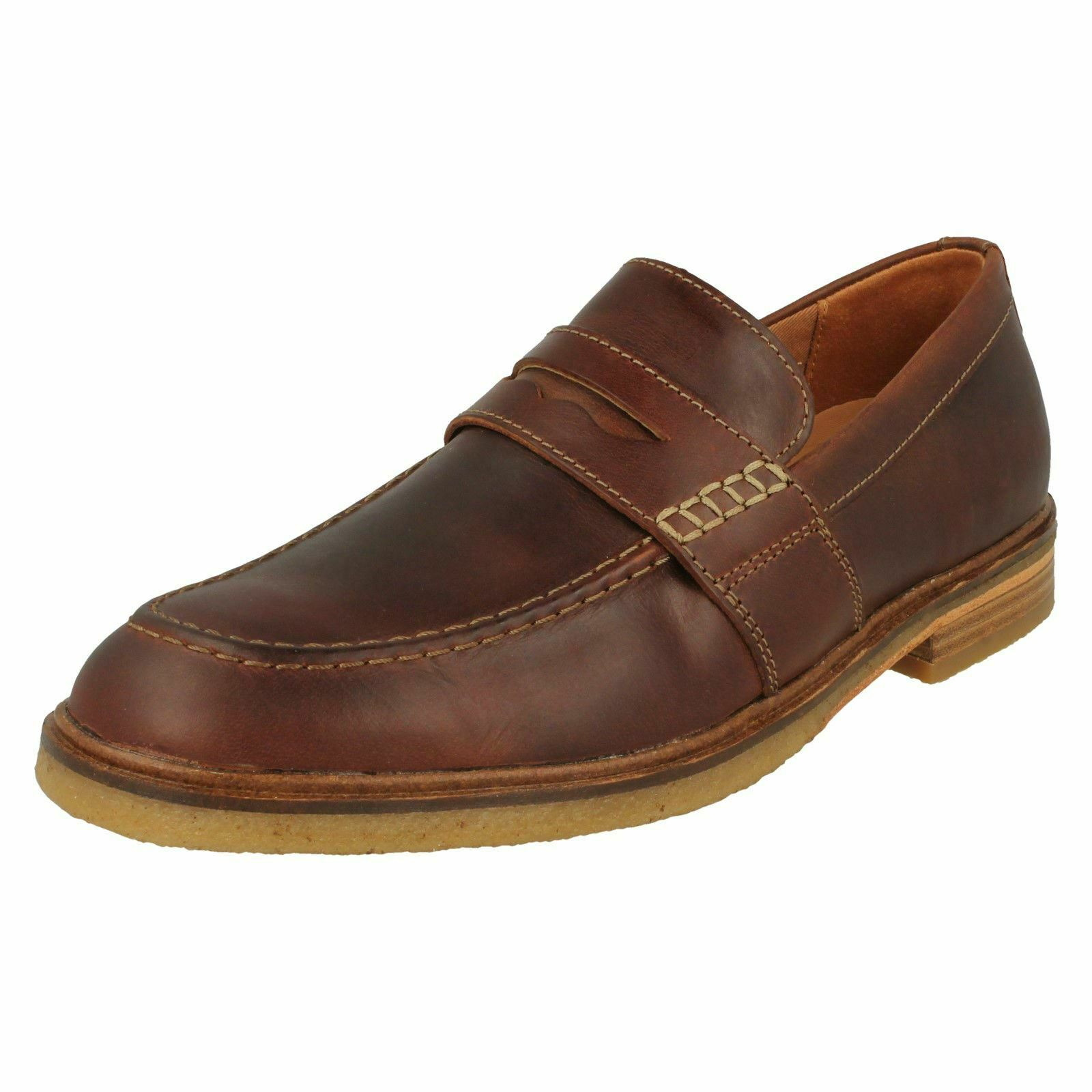 Mens Clarks Slip on Loafers Clarkdale Flow