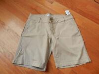 Hollister Women Low Rise Bermuda Boy Shorts Khaki Size 9