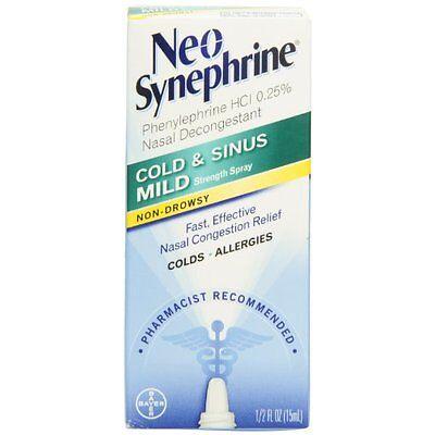Neo-Synephrine Nasal Spray Mild Formula, 0.5 fl oz (15 mL) Each