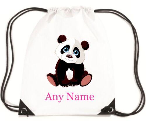 Personalizzato Carino Panda PE//Scuola//Nuoto//Borsa Sportiva Da mayzie Designs ®